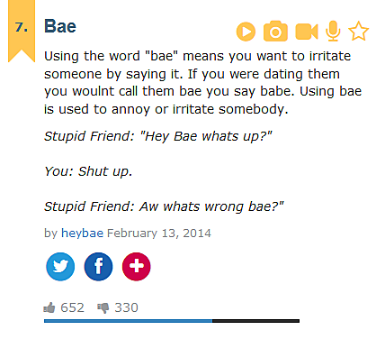 Bae dictionary
