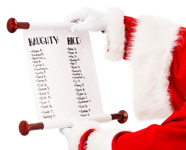 Santas Good And Naughty List Kids