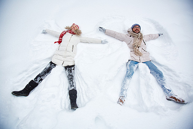 12 Dates Of Christmas Making Snow Angels