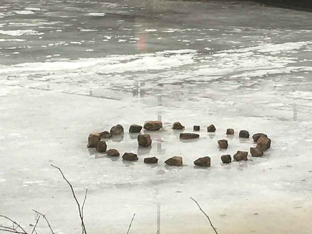 Rocks on the Rock River in Rockford