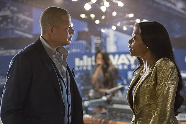EMPIRE: Pictured L-R: Terrence Howard as Lucious Lyon and Taraji P. Henson as Cookie Lyon in the ÒFires Of HeavenÓ episode of EMPIRE airing Wednesday, Oct. 7 (9:00-10:00 PM ET/PT) on FOX. ©2015 Fox Broadcasting Co. Cr: Chuck Hodes/FOX.