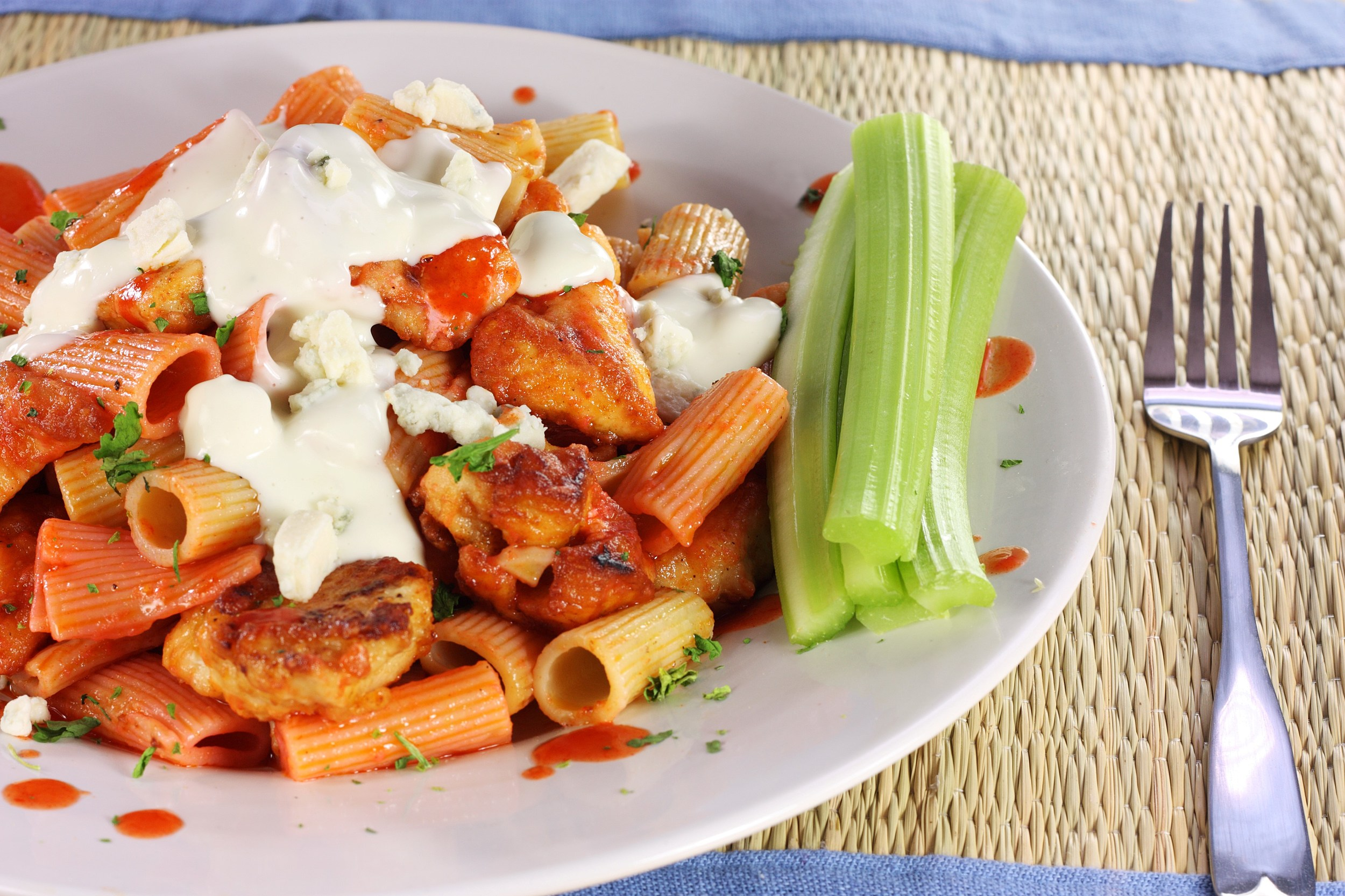 Buffalo Chicken and Pasta